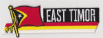 East Timor Embroidered Flag Patch, style 01.